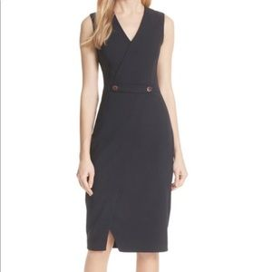 Ted Baker Cap Sleeved MIDI dress
